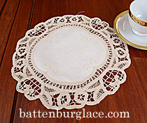 original battenburg lace doilies, pineapple battenburg doilies.