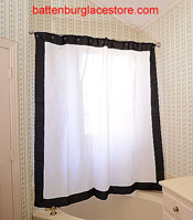 Shower Curtain White With Black Color 6999 Each