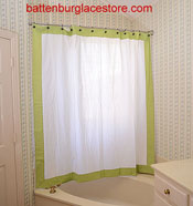 Shower Curtain White With Macaw Green 6999 Each