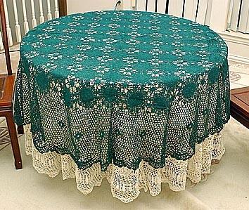 Sun Flower Round Hand Crochet tablecloth