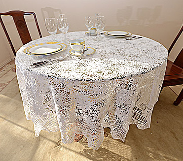 Elegant Round Tablecloths 72 Inches Round, 90 Inches And