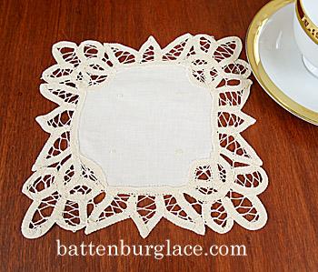 princess anne style square doilies battenburg lace design
