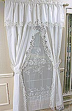 battenburg lace long window curtain set battenburg lace valance