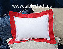 baby 12x16 pillow sham, baby pillows, baby pillow sham, baby pillow Red border.