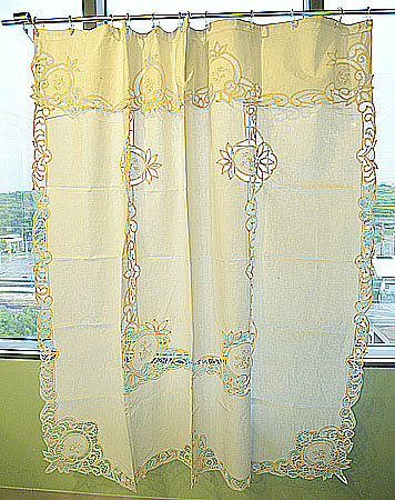 battenburg lace shower curtains ecru color piineapple battenburg