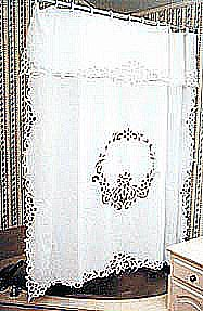 Rebecca Lace Shower Curtain - Ecru Only, All Curtains;Shower